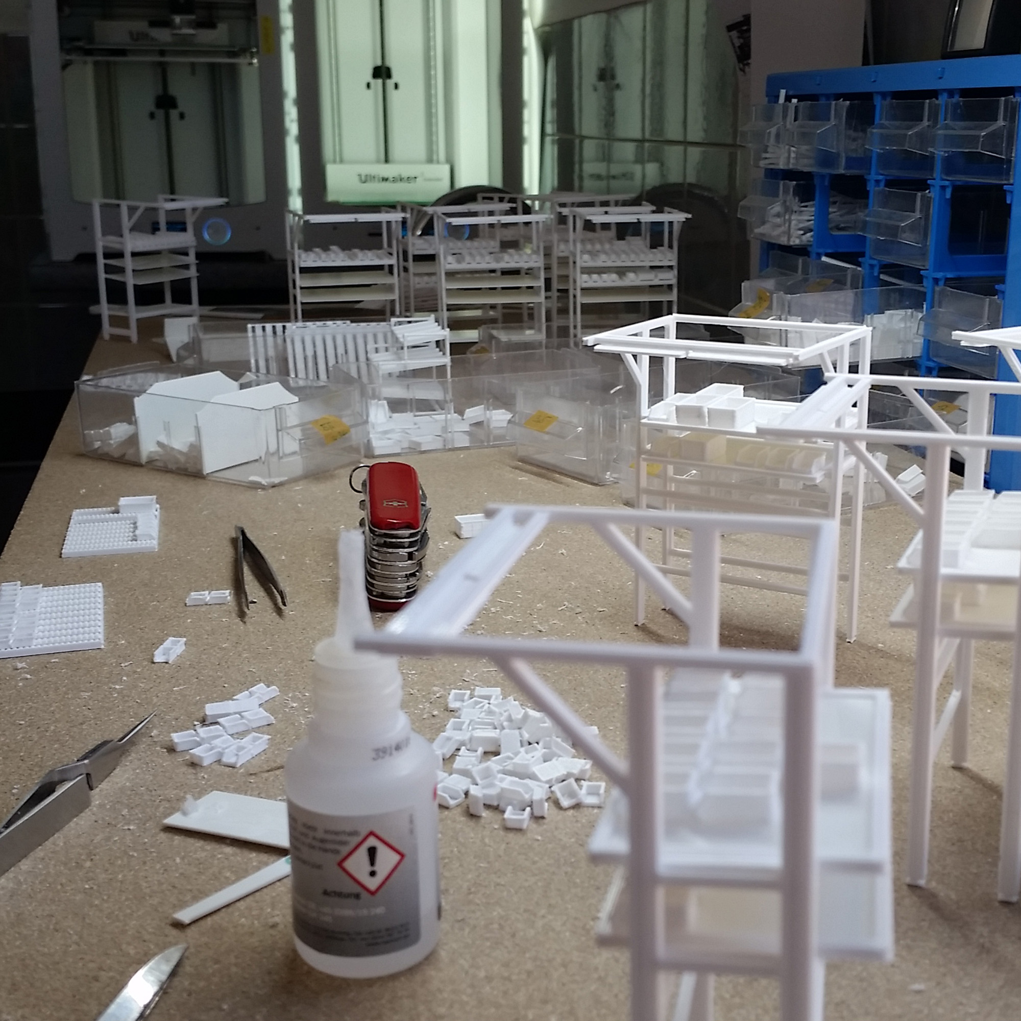 Werkshallenmodell Bauphase