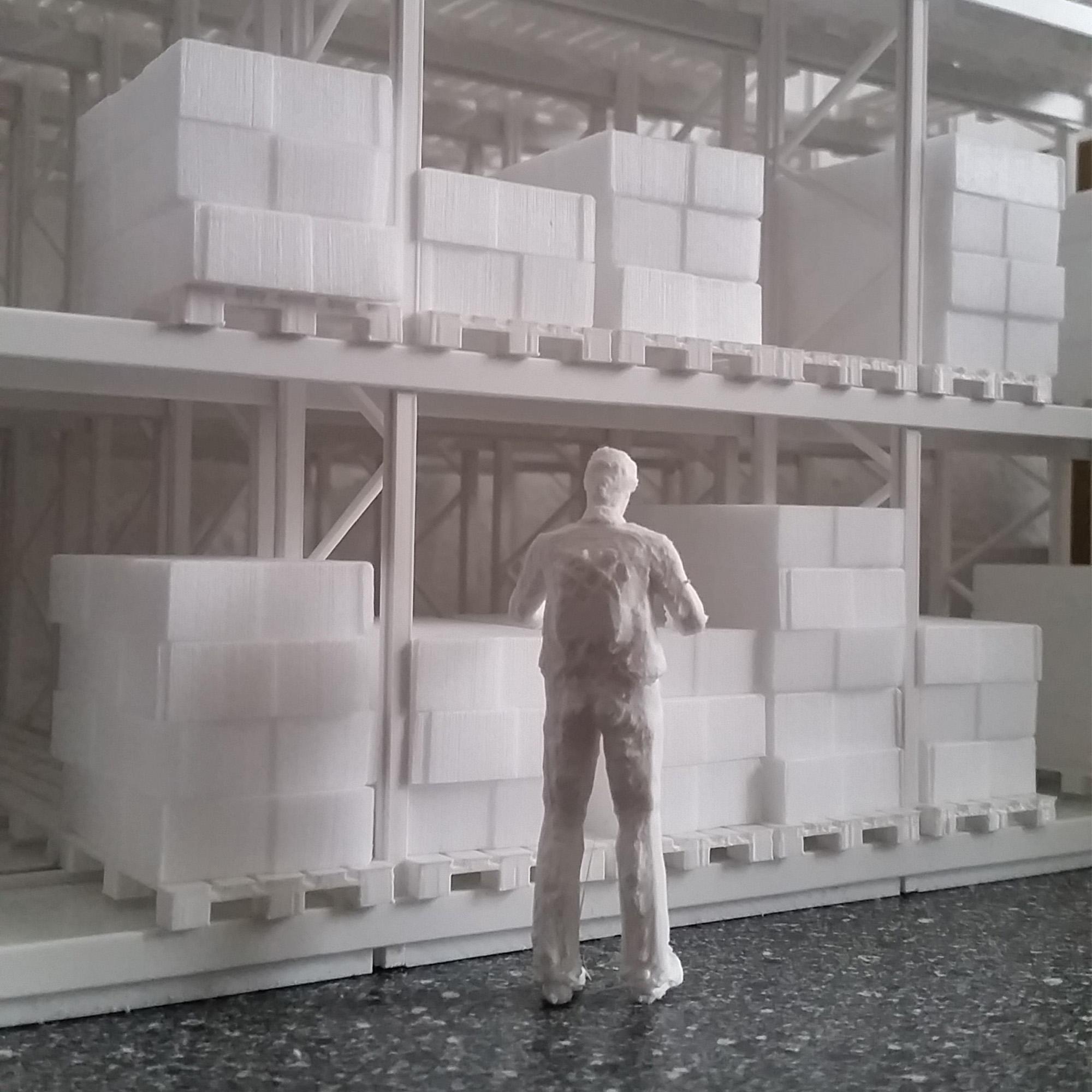 Detail Werkshalle Bauphase
