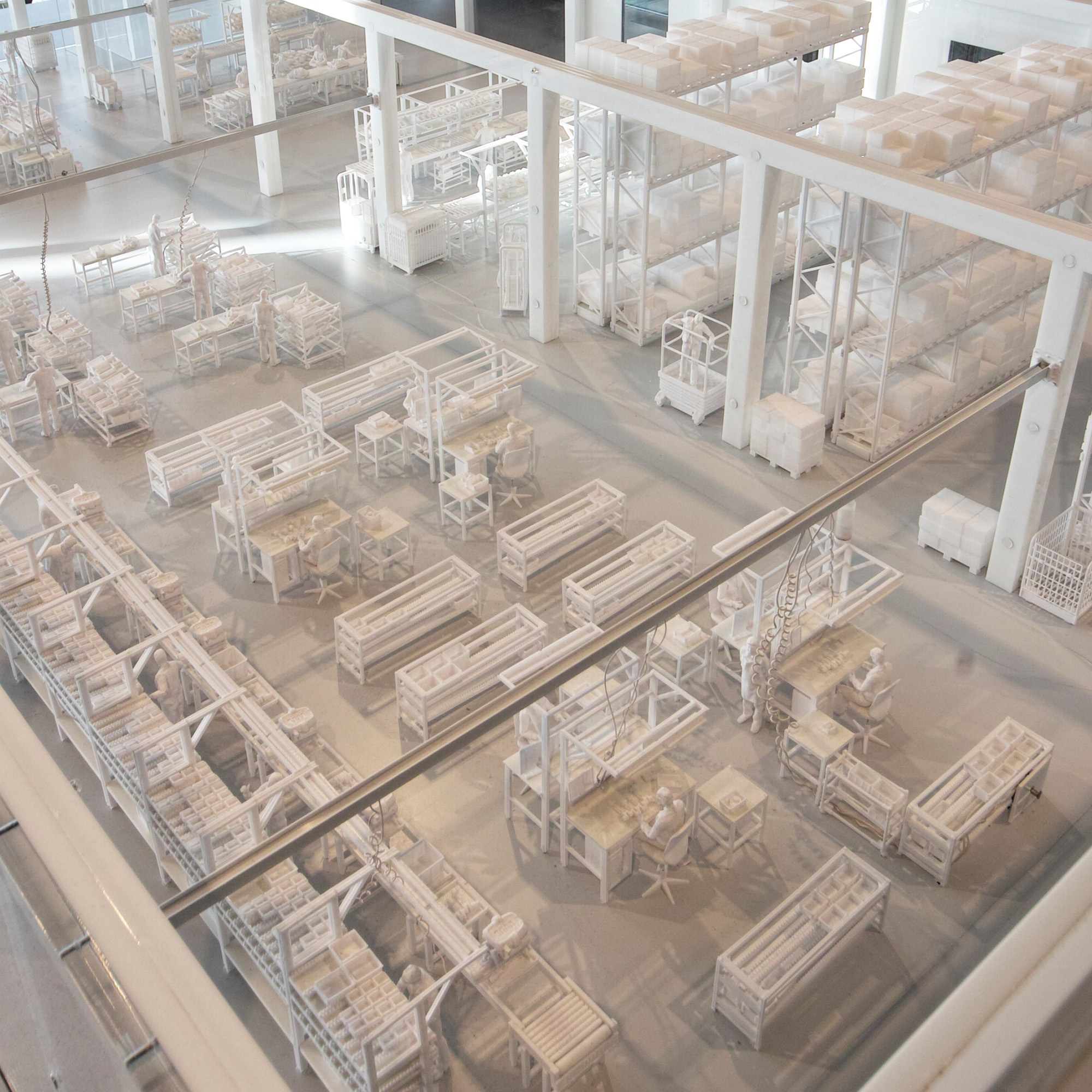 Logimat Exponat Werkshallenmodell komplette Ausstattung