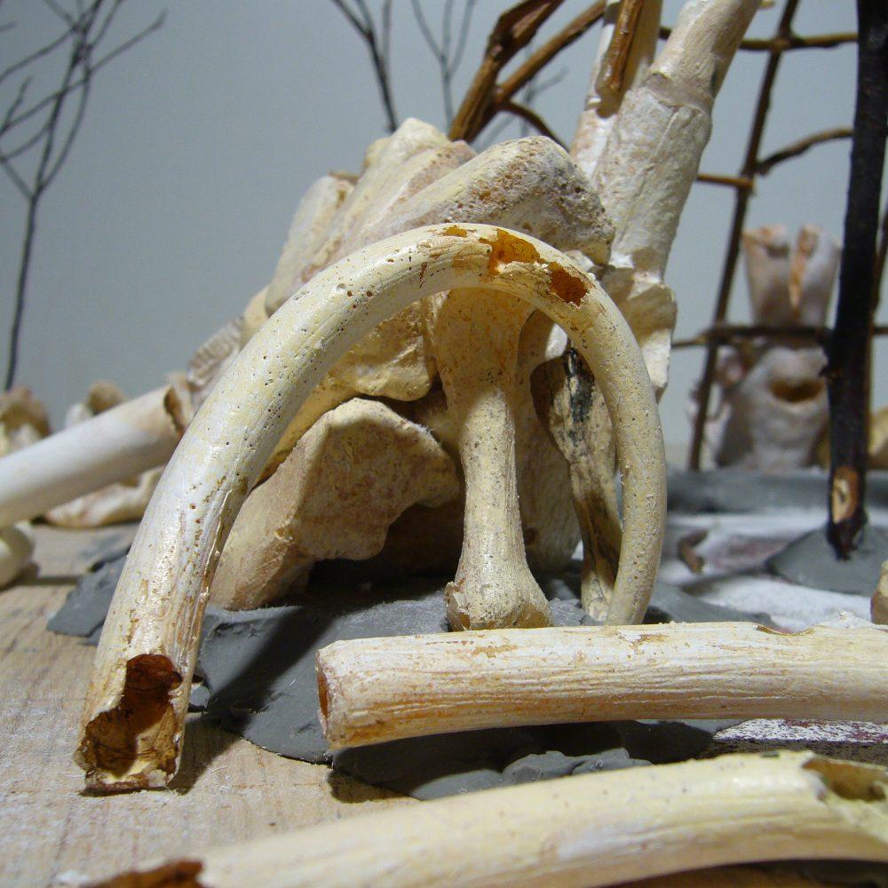 Mammutknochenhütte Exponat Detail