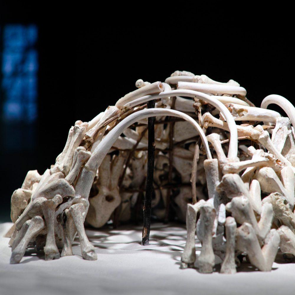 Mammutknochenhütte Exponat