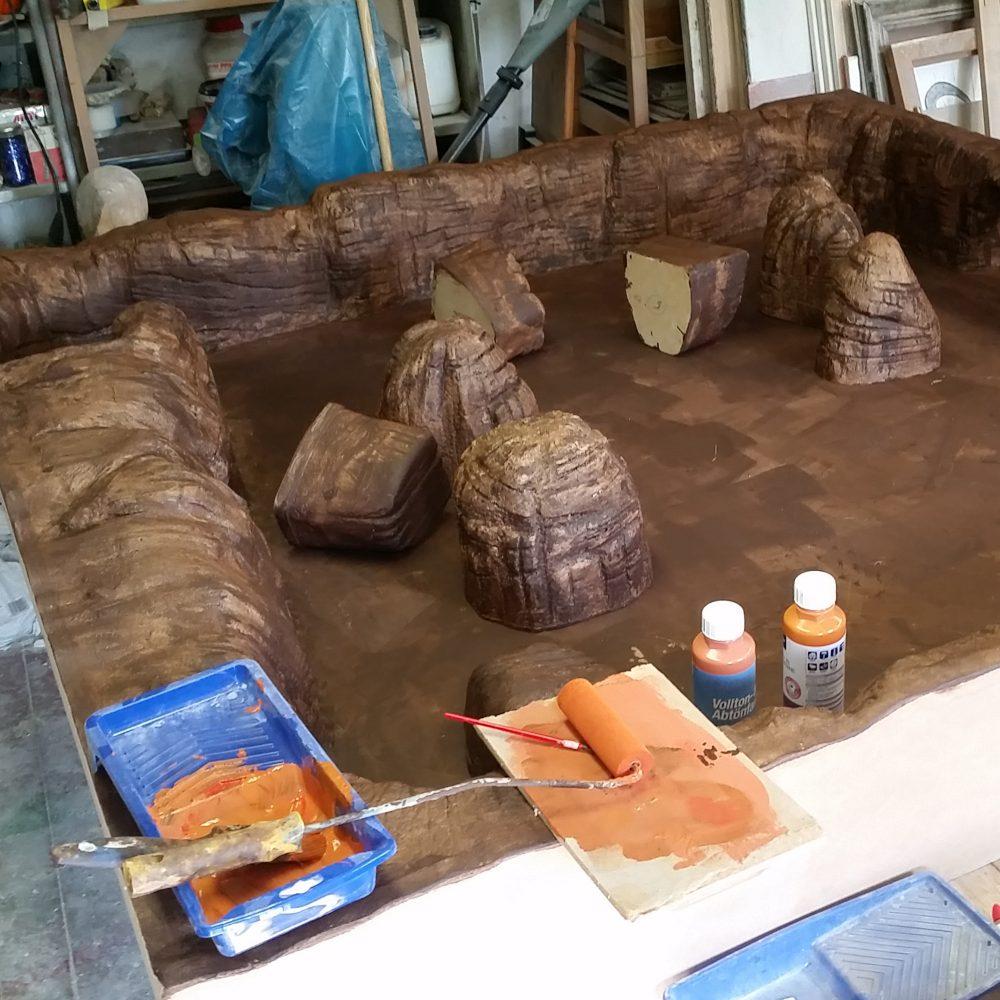 Marslandschaft Trainingsmodul Bauphase