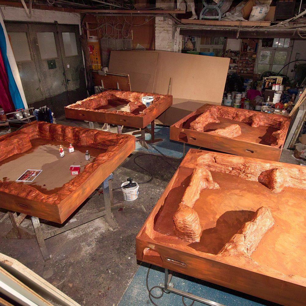 Marslandschaft Trainingsmodule Bauphase