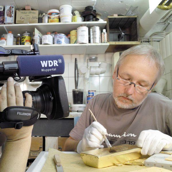 Goldbarrenattrappe 12,44KG WDR Bericht
