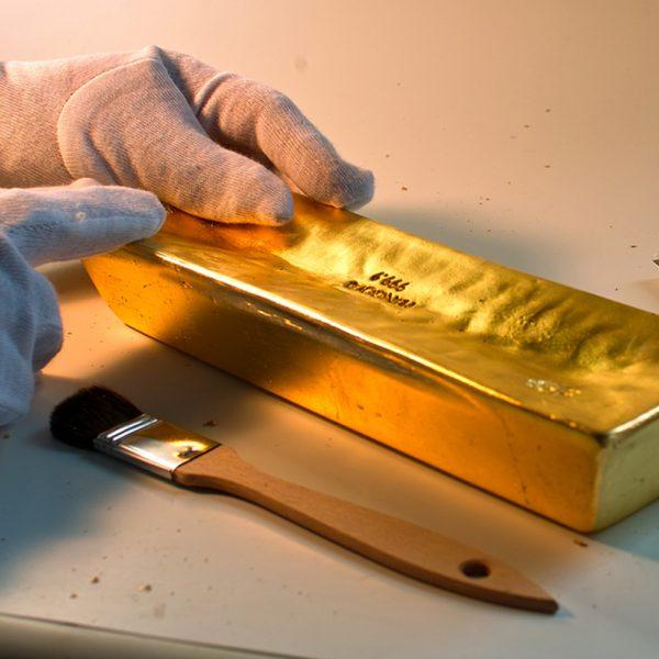 Goldbarrenattrappe 12,44KG