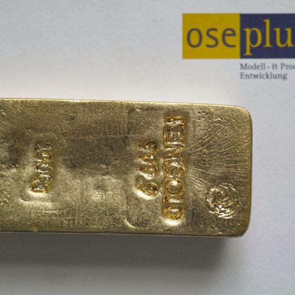 1000g Goldbarrenattrappe